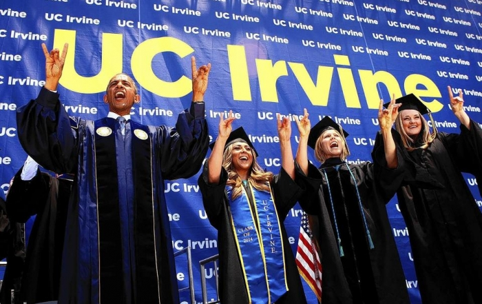 President Obama Highlights Climate Change and Coastal Flooding in UCI Commencement Address